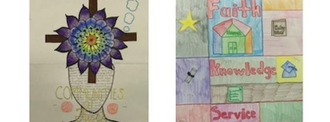 Students Created Catholic Schools Week Posters