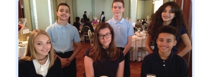Jr. High Students attend Boys & Girls Hope Leadership Luncheon